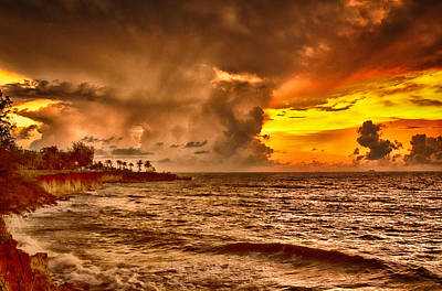 Top-end Photograph - Nightcliff Gold V2 by Douglas Barnard