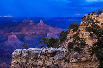 Photograph - Nightfall Approaches At Bright Angel Trailhead by Ed Gleichman