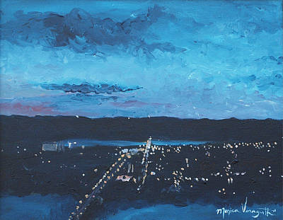 Painting - Nightfall At Garvin by Monica Veraguth