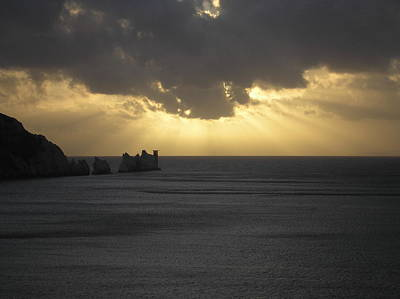 Photograph - Nightfall At The Needles Point In The Isle Of Wight by Karen Jane Jones