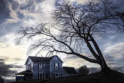 Michigan Farmhouse Photograph - Nightfall by Debra and Dave Vanderlaan