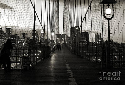 Photograph - Nightfall On The Brooklyn Bridge by RicardMN Photography