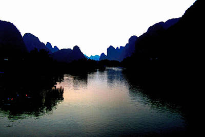 Photograph - Nightfall On Yulong by Karen Saunders