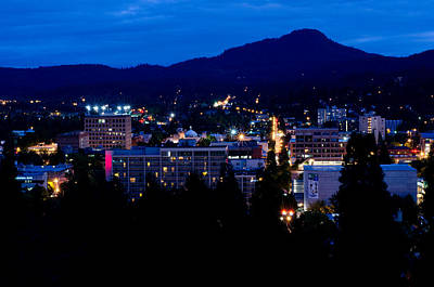 Nightfall Over Eugene Art Print