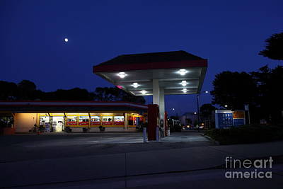 Photograph - Nightfall Over The Local Gas Station 5d25173 by Wingsdomain Art and Photography