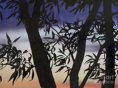 Art Print featuring the digital art Nightfall by Ursula Freer