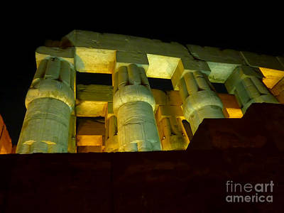Nightime At Luxor Temple  Art Print by Eleni Mac Synodinos