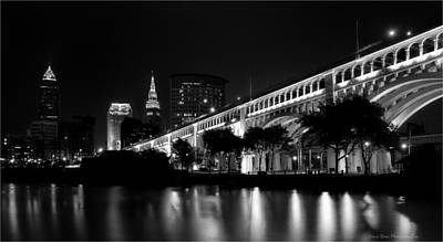 Photograph - Nightime In Cleveland by Daniel Behm