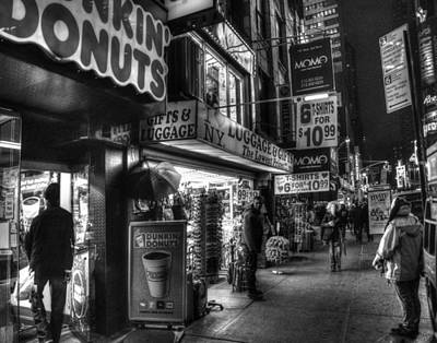 Photograph - Nightime In Manhattan 001 by Jeff Stallard