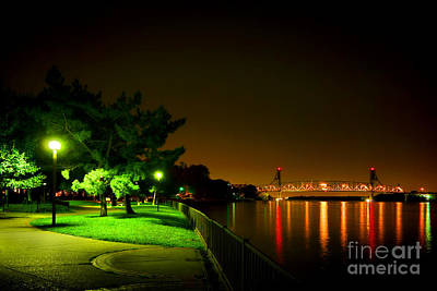 Streetlight Photograph - Nighttime Promenade by Olivier Le Queinec