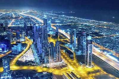 Nightlife In Dubai Art Print by Valentinrussanov