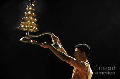 Puja Photograph - nightly Hindu Puja Rituals by Judith Katz