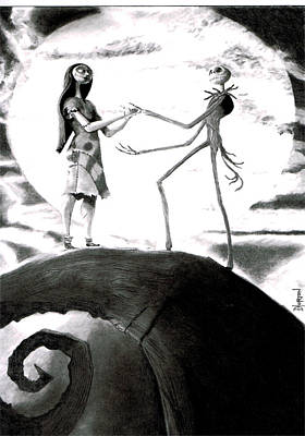 Nightmare Before Christmas Wall Art - Drawing - Nightmare Before Christmas by David Horton