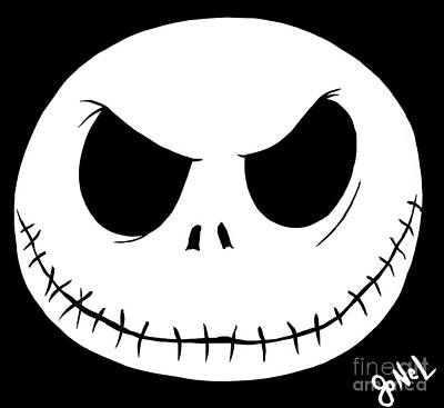 jack skellington face template - jack skellington paintings fine art america