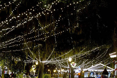 Christmas Holiday Scenery Photograph - Nights Of Light 2 by Kenneth Albin