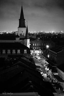 Art Print featuring the photograph Nightscape B/w by Shelly Stallings