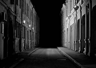 Photograph - Nighttime Alley by Steven Liveoak