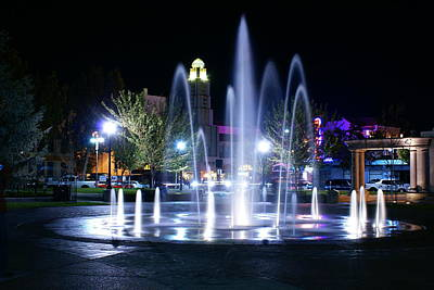 Nighttime At Chico City Plaza Original