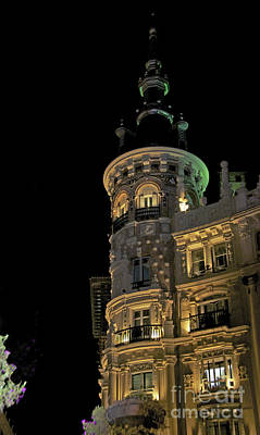 Photograph - Nighttime In Madrid Spain by Cindy Lee Longhini