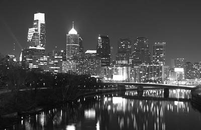 Art Print featuring the photograph Nighttime In Philadelphia by Alice Gipson