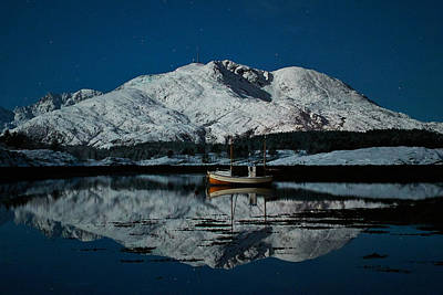 Norway Photograph - Nighttime Mirror by Trond Solem