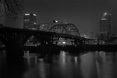 Photograph - Nighttime On The Broadway Bridge by Robert Camp