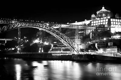 Luis Sales Photograph - Nighttime On The Douro by John Rizzuto
