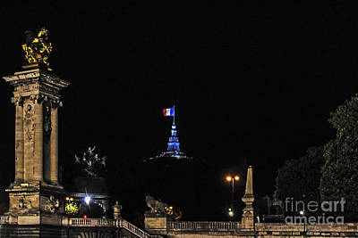 Photograph - Nighttime On The Seine by Elvis Vaughn