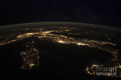 Just Desserts - Nighttime Panorama Showing City Lights by Stocktrek Images
