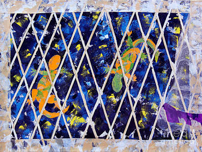 Nighttime View From The Kitchen Window Art Print by Paula Drysdale Frazell