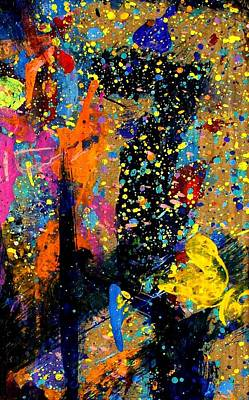Abstract Expressionism Painting - Nighttown II by John  Nolan