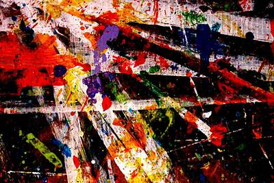 Abstract Expressionism Painting - Nighttown    Xiv by John  Nolan