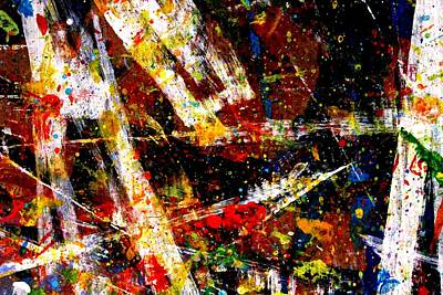 Abstract Expressionism Painting - Nighttown  Xv by John  Nolan