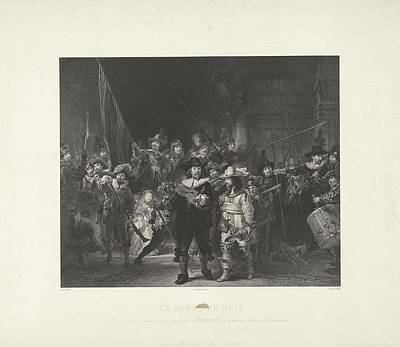 Nightwatch Drawing - Nightwatch, Adolphe Mouilleron by Adolphe Mouilleron And Rembrandt Harmensz. Van Rijn And Frans Buffa En Zonen