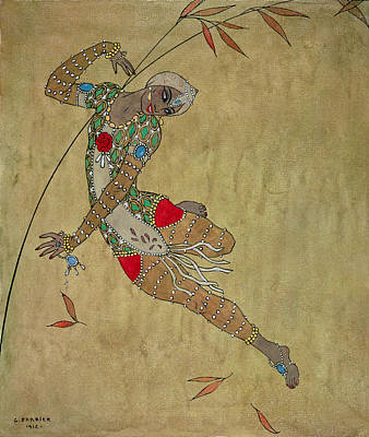 Strength Painting - Nijinsky In 'le Festin/ L'oiseau D'or' by Georges Barbier