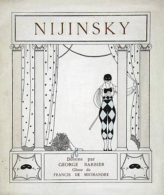 Ballet Dancers On The Stage Painting - Nijinsky Title Page by Georges Barbier
