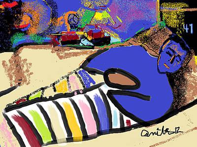 Painting - Nik Sleeping by Anita Dale Livaditis