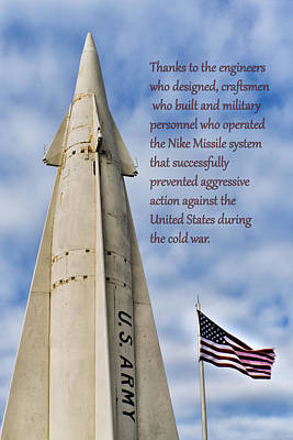 Photograph - Nike Missile Thanks by Gary Slawsky