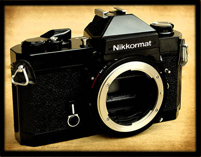 Photograph - Nikkormat Ft2 Black Body by James C Thomas