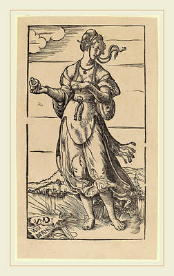 Wise Virgin Drawing - Niklaus Manuel I, The Wise Virgin, Swiss by Litz Collection