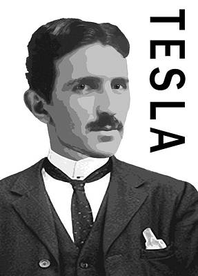 Xray Digital Art - Nikola Tesla 2 by Daniel Hagerman