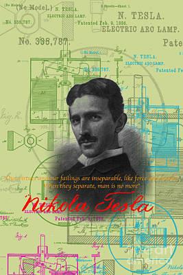 Nikola Tesla #3 Art Print