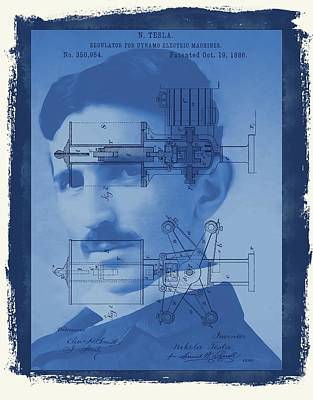 Nikola Tesla Art Print by Dan Sproul