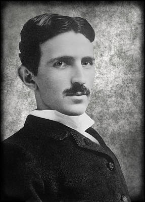 Alternating Current Photograph - Nikola Tesla by Daniel Hagerman
