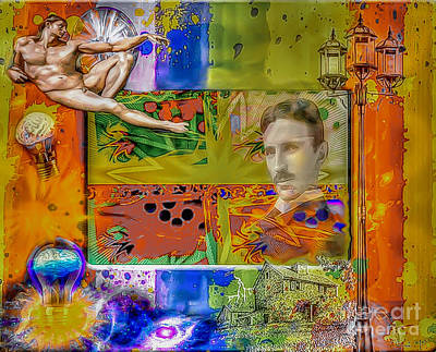 Nikola Tesla Original by Eleni Mac Synodinos