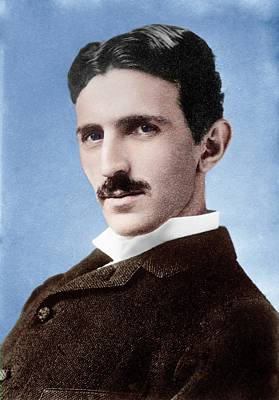 Alternating Current Photograph - Nikola Tesla by Library Of Congress