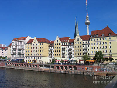 Photograph - Nikolaiviertel And Alexanderturm by Art Photography