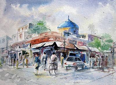 Nca Painting - Nila Gumbad by M Kazmi
