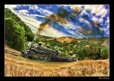 Photograph - Niles Canyon Railway At Farwell 1921 Train Black Smoking by Blake Richards