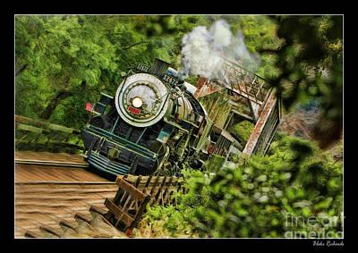 Photograph - Niles Canyon Railway At Farwell 1921 Train by Blake Richards